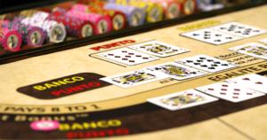Baccarat table in Macau Casino